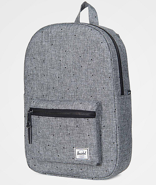 a412a3e79d8 Settlement Mid Scattered Raven Crosshatch 17L Backpack  Herschel Supply Co. Settlement  Mid Scattered Raven Crosshatch 17L Backpack ...