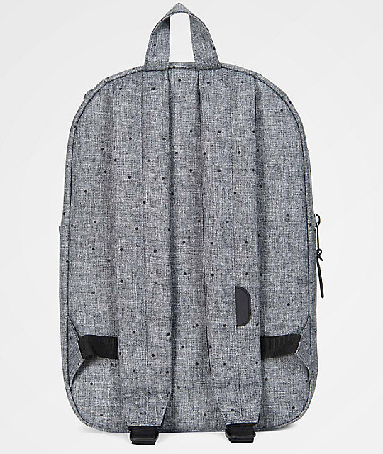 d4141fbe75a9 Settlement Mid Scattered Raven Crosshatch 17L Backpack  Herschel Supply Co.  Settlement Mid Scattered Raven Crosshatch 17L Backpack ...
