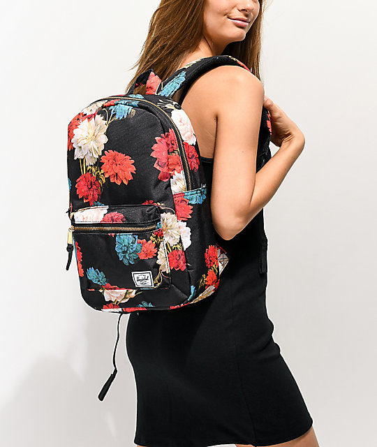 Herschel Supply Co. Settlement Mid Vintage mochila negra floral