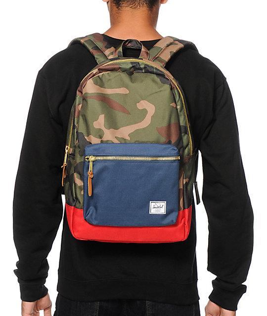 e04dd9ada8 Settlement Woodland Camo   Navy Backpack  Herschel Supply Co. Settlement  Woodland Camo   Navy Backpack