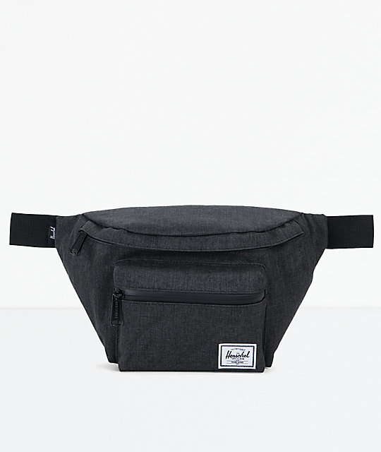 cdd0321c707 Herschel Supply Co. Seventeen Black Crosshatch Fanny Pack