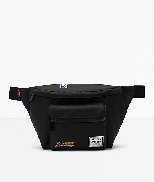 Herschel Supply Co. Seventeen LA Lakers riñonera negra