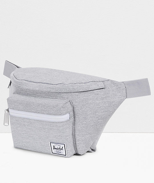 Herschel Supply Co. Seventeen Light Grey Crosshatch Fanny Pack