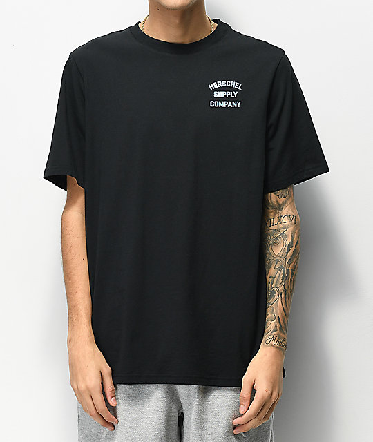 Herschel Supply Co. Stack Logo Black & Blue T-Shirt