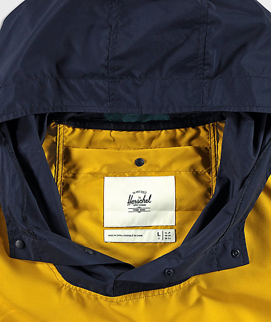 Herschel Supply Co. Voyage Yellow, Teal & Navy Anorak Jacket