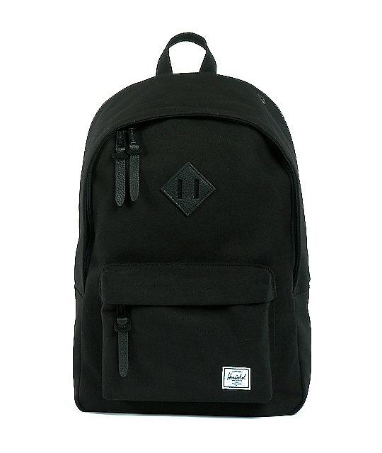 Woodlands Black Canvas Backpack