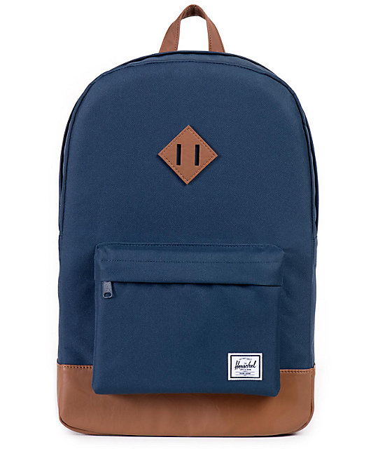 Herschel Supply Heritage Navy & Tan 21.5L Backpack