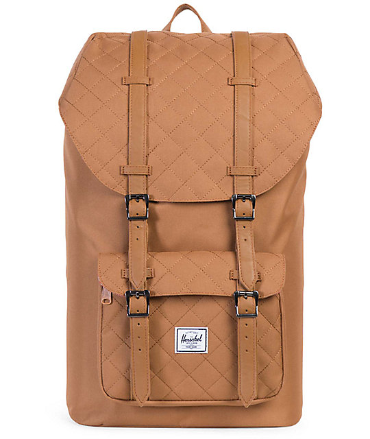 1f8f4f4b4be Herschel Supply Little America Caramel Quilted 25L Backpack