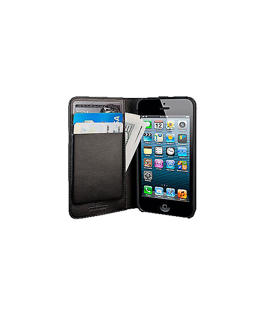 Hex Axis Black iPhone 5 Case Wallet