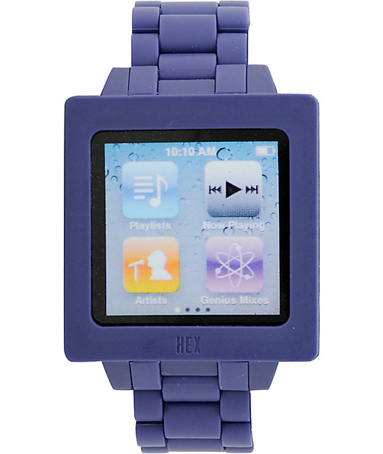 Hex Icon iPod Nano Purple Watch Band
