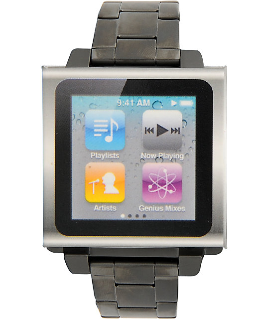 Hex Vision iPod Nano Metal Gunmetal Watch Band