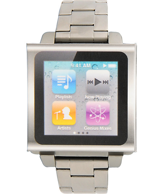 Hex Vision iPod Nano Metal Silver Watch Band