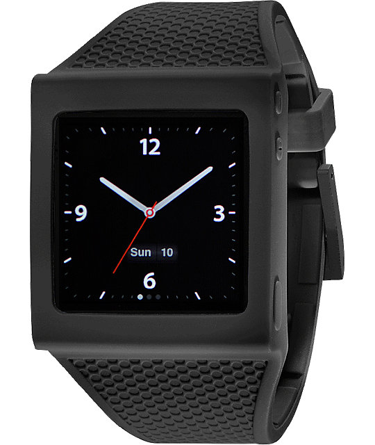 Hex iPod Nano Black Watch Band