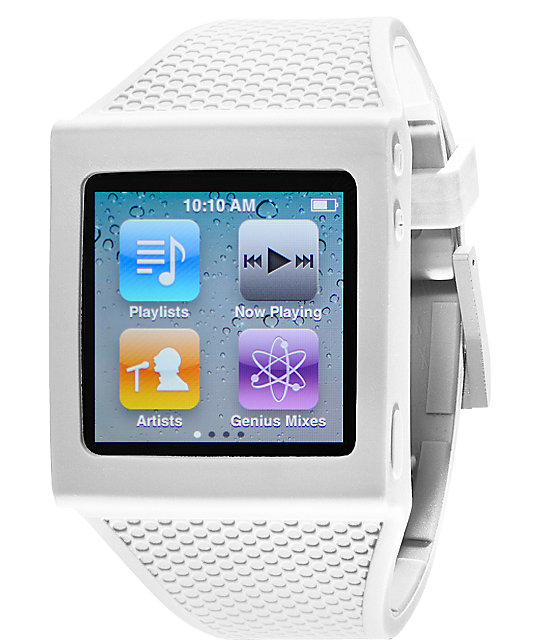 Hex iPod Nano White Watch Band