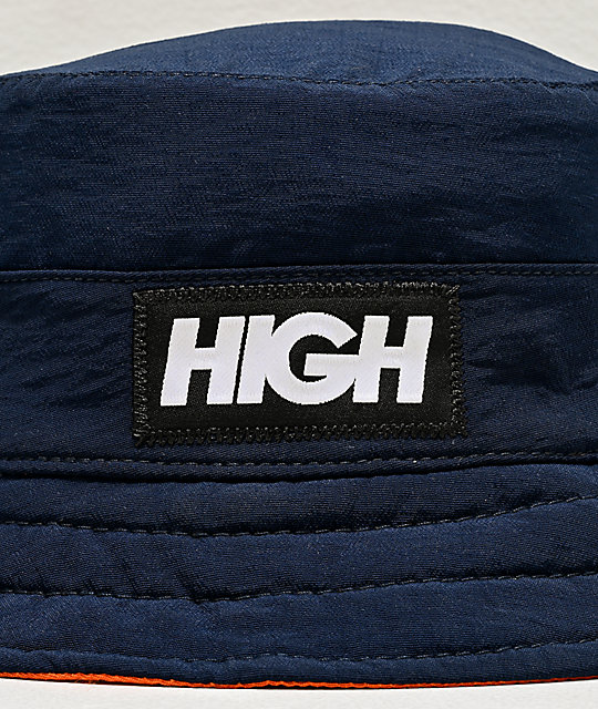 High Company Reversible Navy & Orange Bucket Hat