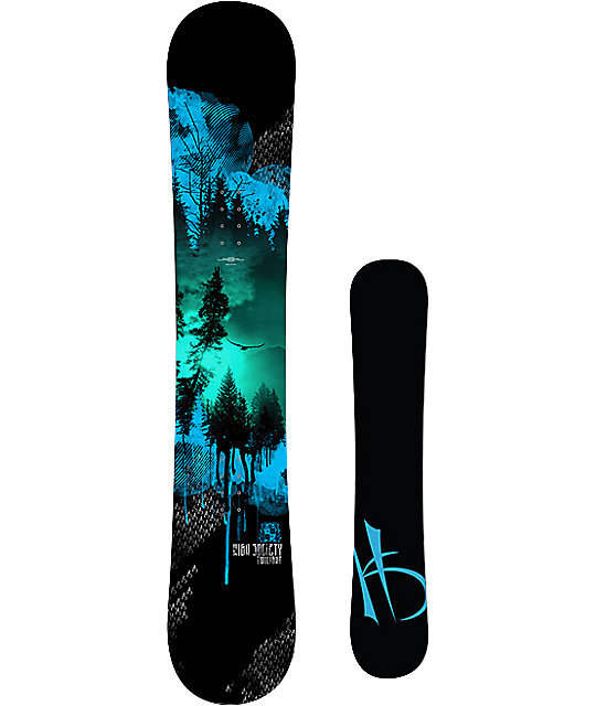 High Society Freeride Twilight 163cm Snowboard