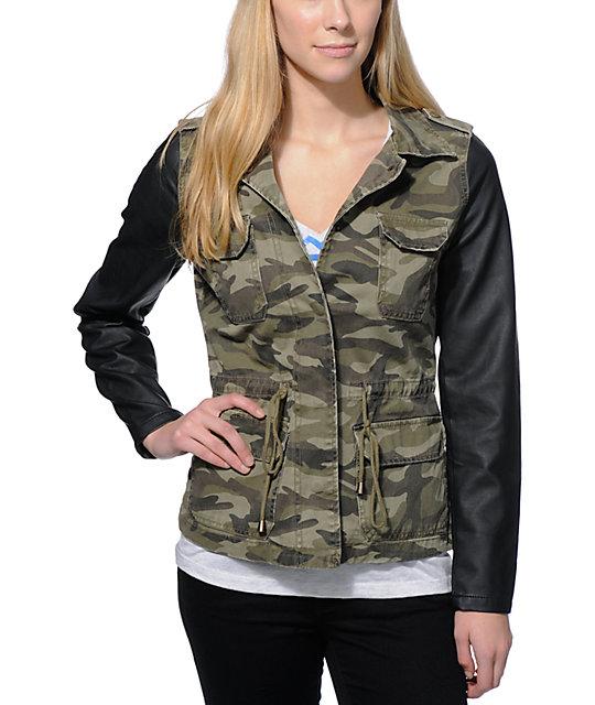 44e6c798aecb9 Highway Jeans Camo Print Denim Jacket | Zumiez