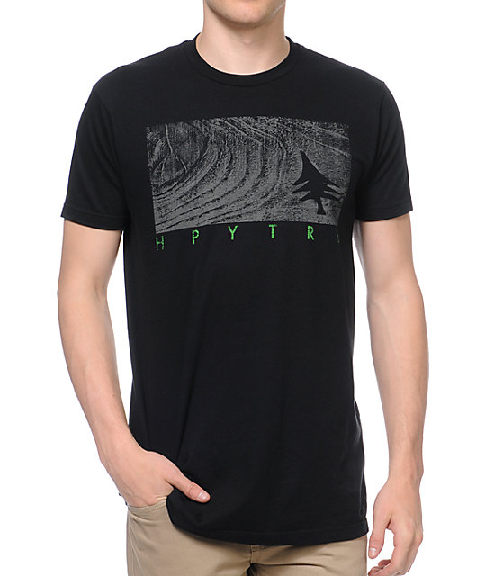 Hippy Tree Mahogany T-Shirt Black T-Shirt