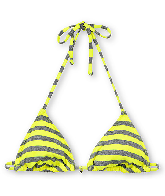 Hobie Tik Tok Yellow Triangle Bikni Top