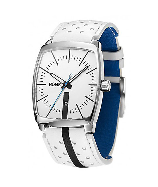 Home G-Class White & Cyan Analog Watch