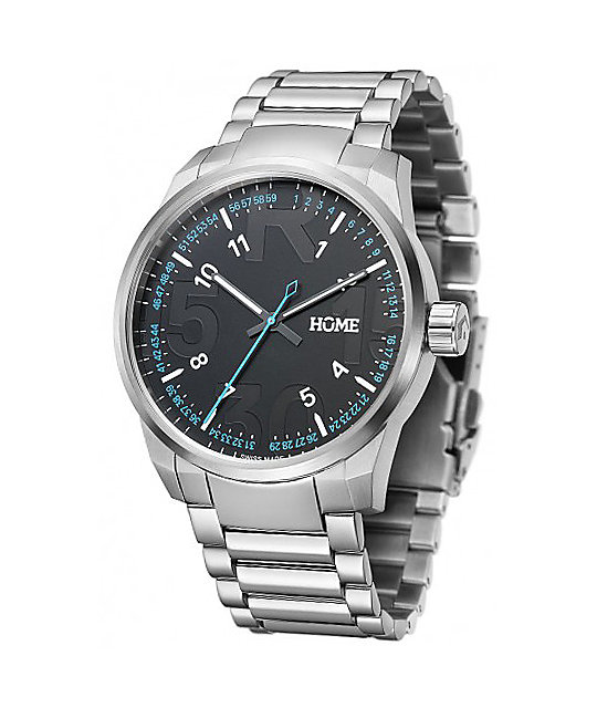 Home R-Class Classic Silver Swiss Analog Watch