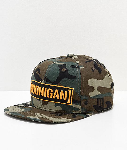 447b1f0312d Hoonigan Censor Bar Camo Snapback Hat