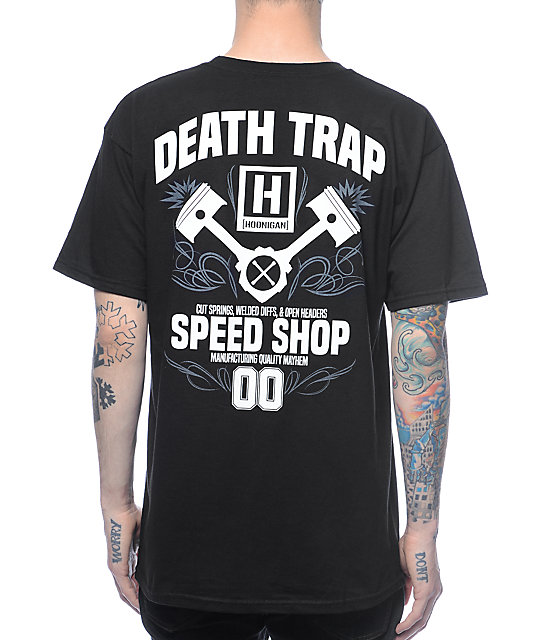 Hoonigan Death Trap camiseta negra