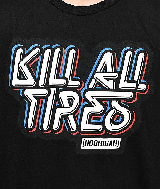 Hoonigan kill all tires black t shirt zumiez - Hoonigan logo ...
