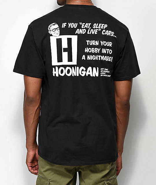 Hoonigan Nightmare Black T-Shirt