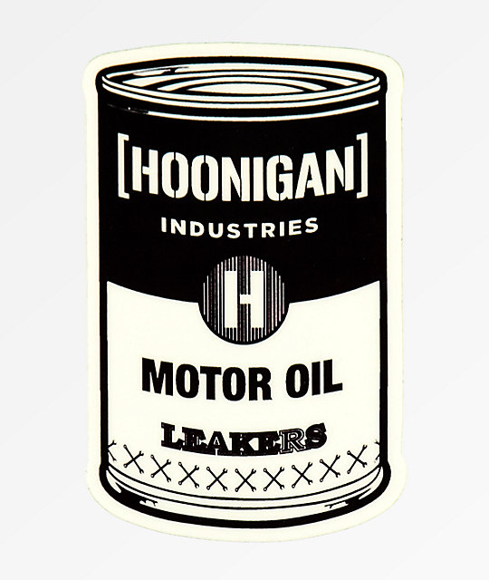 Hoonigan Oil Can Sticker