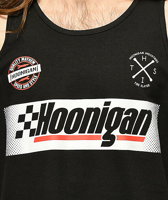 Hoonigan Open Wheel camiseta negra sin mangas