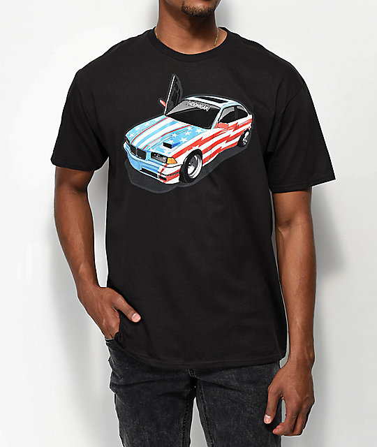 Hoonigan Sh!t Car Black T-Shirt