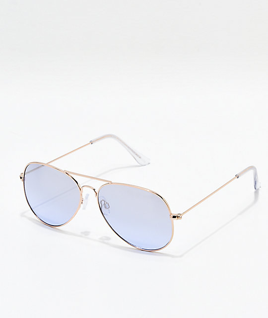 Hotel California Lavender Rose Gold Sunglasses