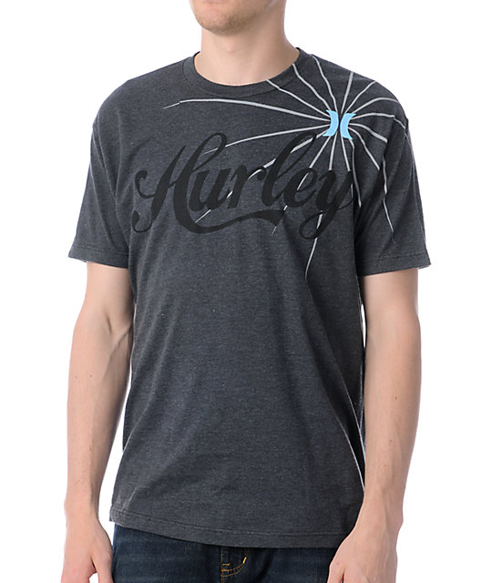 Hurley Batters Up Charcoal Grey T-Shirt