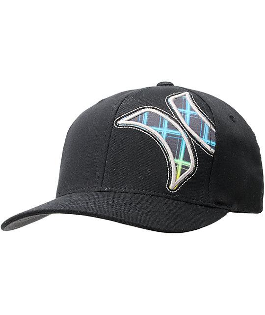 Hurley Boardshort Resist Black Flexfit Hat  0ad9d0d683b1