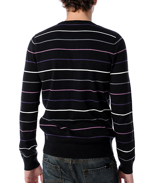Hurley Downtown Black Crew Neck Sweater