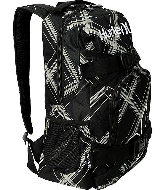 Hurley Honor Roll Black & Grey Skate Backpack