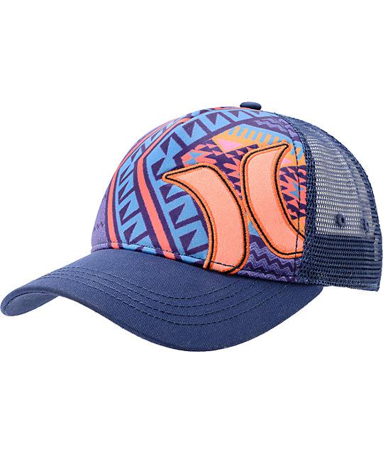 0b289e85f Hurley Mayan Blue Snapback Trucker Hat