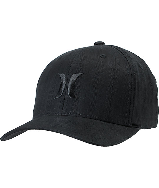 Hurley One & Only Black Dobby2 Flexfit Hat