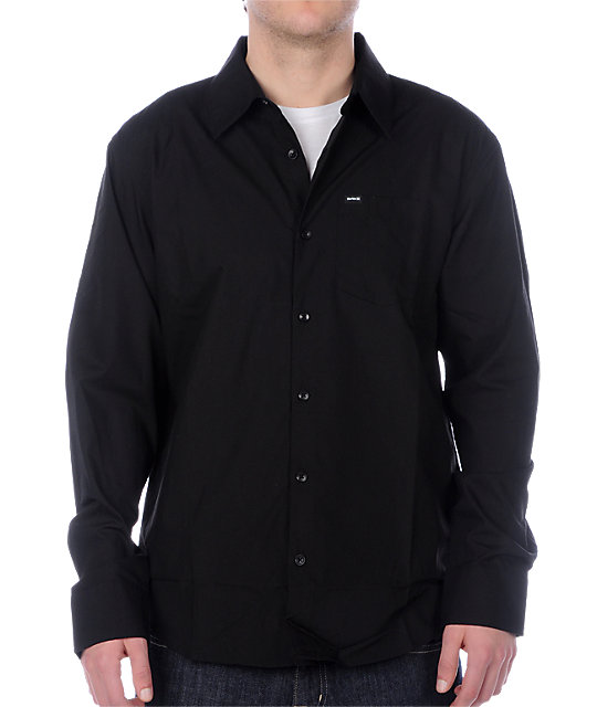 Hurley One & Only Black Woven Shirt
