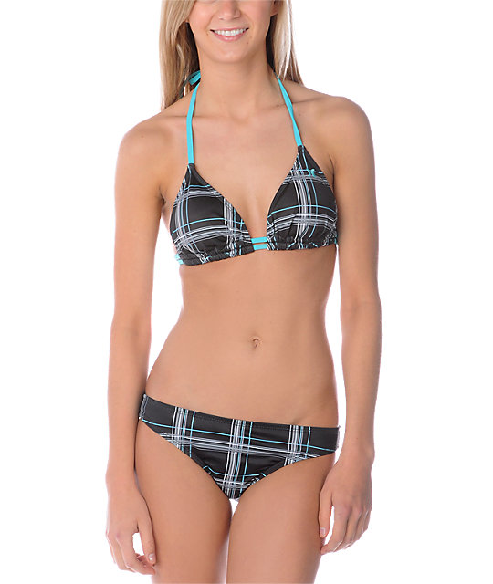 Hurley One & Only Plaid Triangle Top