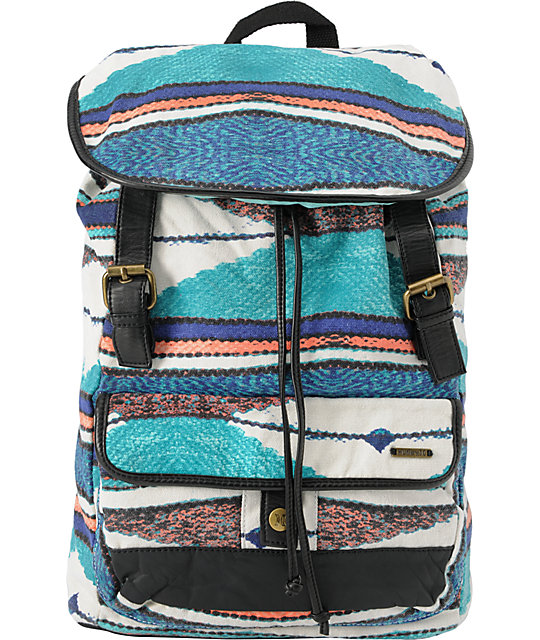Hurley One & Only Stripe Rucksack Backpack