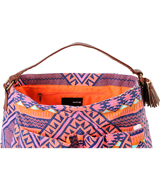 Hurley One & Only Tribal Print Satchel Purse