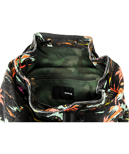 Hurley One And Only Black Flam Backpack