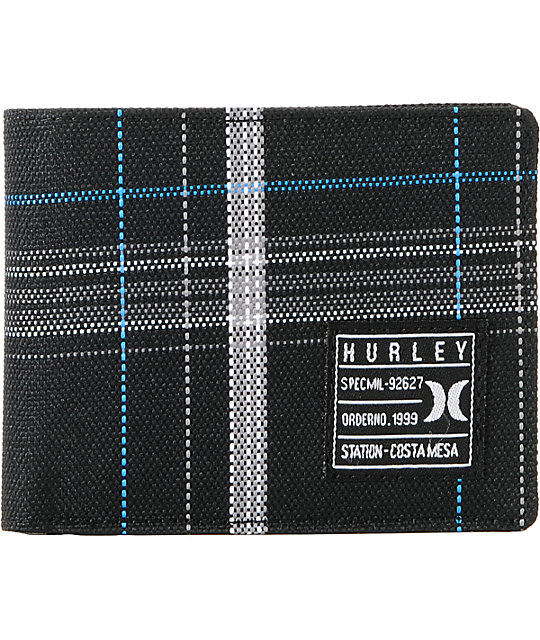 Hurley Oxford Bifold Black Wallet