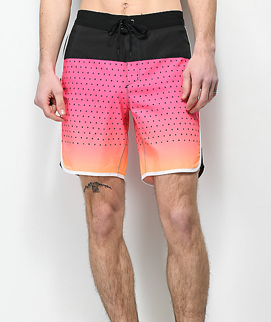 Hurley Phantom Motion Third Reef Pink & Black Board Shorts