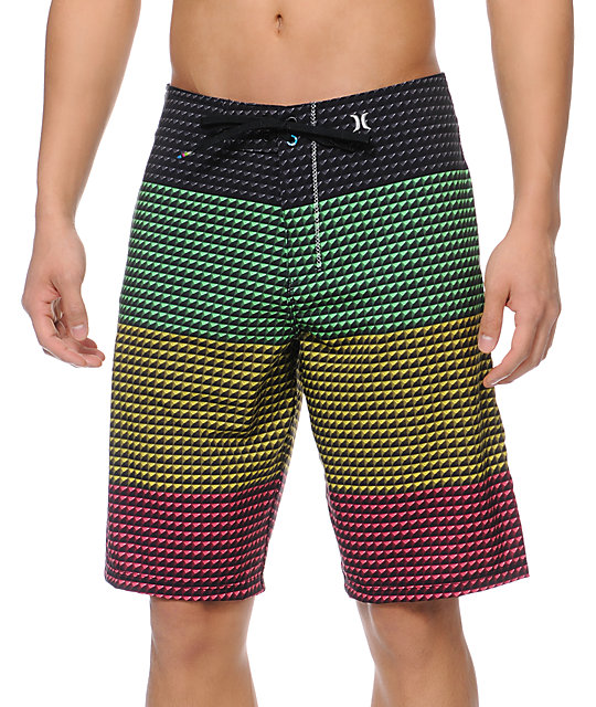 Hurley Phantom Point Rasta 21 Board Shorts