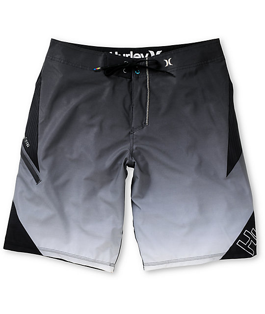 Hurley Plex Phantom Black Striped 21 Board Shorts