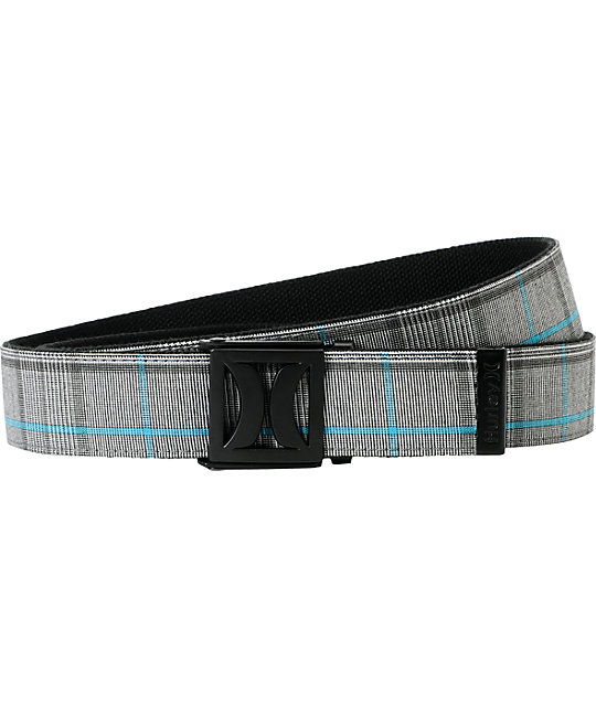 Hurley Shift Dye Plaid Web Belt