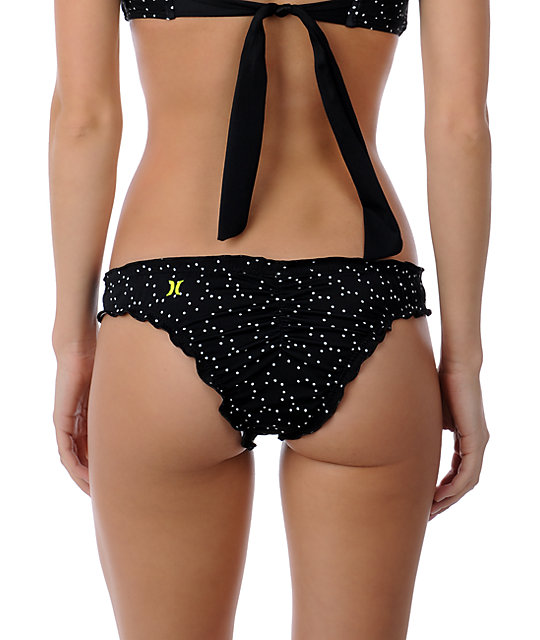 Hurley Swim Brazilian Dottie Ruffle Bottom